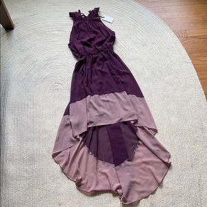 NWT high low purple dress!